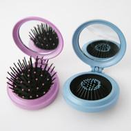 "72 PC ASSORTED Travel Folding Hair Brush Mirror Pocket Purse Compact 2.5"""