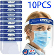 10 Pack Safety Full Face Shield Protective Reusable Face Mask