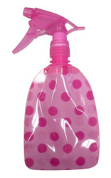 The Wet Spray The Soft, Flat, Spray Bottle.Pink Polka Dot