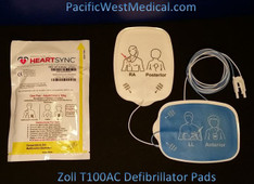 Zoll Adult Defibrillator Pads - T100AC-Zoll Radiolucent HeartSync