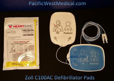 Zoll Adult Defibrillator Pads (Sterile) - C100AC-Zoll Radiotransparent HeartSync Replaces 2250R Covidien Zoll