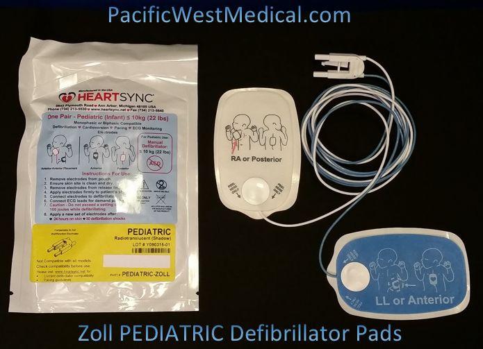 Zoll Pediatric Defibrillator Pads - Pediatric Zoll HeartSync