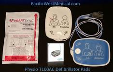 Physio Adult Defibrillator Pads - T100AC-Physio Radiolucent HeartSync