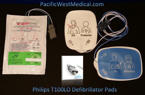 Philips Adult Defibrillator Pads (Leads-Out) for Radiolucent HeartSync - T100LOAC - All Components