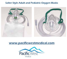Salter Labs 8140 Adult high concentration non-rebreathing elastic strap style mask with 7 ft. tube without safety vent
