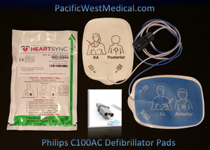 Philips Adult Defibrillator Pads (Sterile) for Philips HeartSync (Box of 10) - C100AC