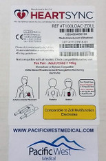Zoll Adult Defibrillator Pads (Leads-Out) - T100LOAC-Zoll HeartSync (Box of 10)