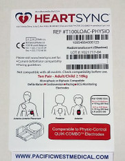 Physio Adult Defibrillator Pads (Leads-Out) - T100LOAC-Physio HeartSync (Box of 10)