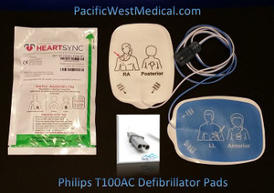 Philips Adult Defibrillator Pads for Philips HeartSync (Box of 10) - T100AC