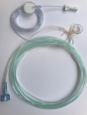 """Adult. O2/ETCO2 Filtered Oral/Nasal Divided Cannula,  2"""" O2 line, 6' ETCO2 line"""