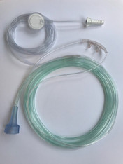 Adult. O2/ETCO2 Filtered Nasal  Divided Cannula,  7' O2 line, 13' ETCO2 line 4MSF3-7-13-25