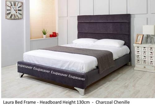 Laura Bed Frame Available In Crush Velvet Chenille