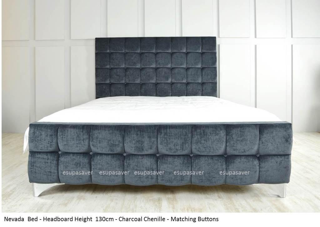 Nevada Bed Frame Available In Crush Velvet Chenille