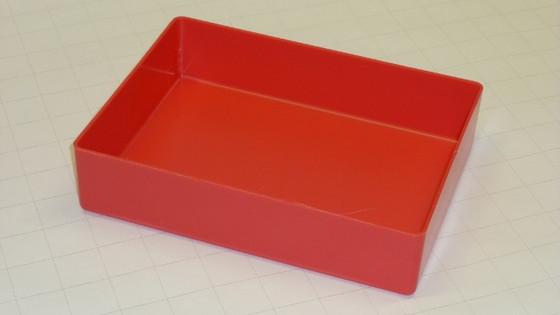 "6"" x 8"" x 2"" Red Plastic Tool Box Organizer"