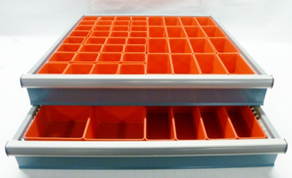 "68 Piece Assortment of 3"" Deep Red Plastic Boxes"