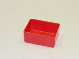 """3"""" x 4"""" x 2"""" Red plastic tool box organizers"""