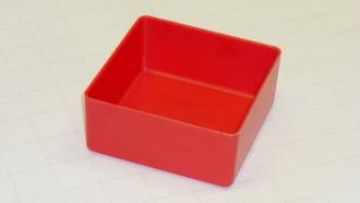 "4"" x 4"" x 2"" Red plastic tool box organizer box"