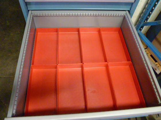 "6"" x 12"" x 2"" organizers in tool box drawer (8 units/24"" x 24"" drawer)"