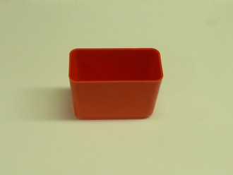 "2"" x 4"" x 3""  Red Plastic Box (Actual dimensions: W 1.9375 X L 3.875 X H 2.75)"