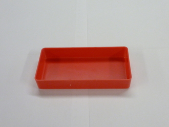 "3"" x 6"" x 1"" Red Plastic Box (Actual Dimensions: W 2.875 X L 5.875 X HT 1"")"