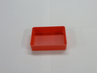 "3"" x 4"" x 1"" Red Plastic Box (Actual Dimensions: W 2.875 X L 3.875 X HT 1"")"