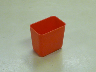 "2"" x 3"" x 3""  Red Plastic Box (Actual dimensions: W 1.95 X L 2.9 X H 2.75)"