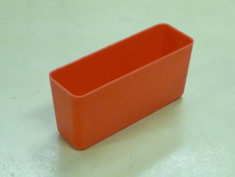 "2"" x 6"" x 3""  Red Plastic Box (Actual dimensions: W 1.95 X L 5.9 X H 2.75)"