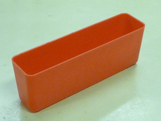 "2"" x 8"" x 3"" Red Plastic Box (Actual dimensions: W 1.95 X L 7.9 X H 2.75)"
