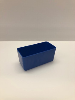 "3"" x 6"" x 3"" Blue Plastic Box     (Actual dimensions: 2.875"" x 5.875"" x 2.75"")"