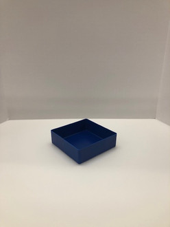 "6"" x 6"" x 2"" Blue Plastic Box"