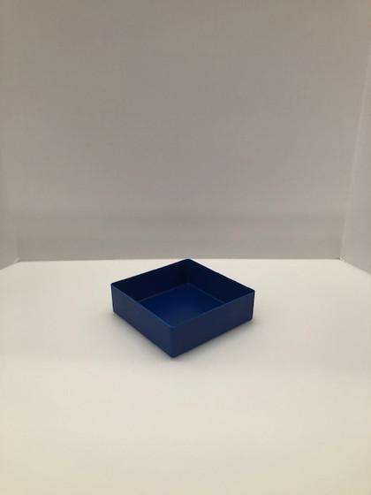 """6"""" x 6"""" x 2"""" Blue Plastic Box"""