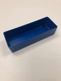 "3"" x 8"" x 2"" Blue Plastic Box"