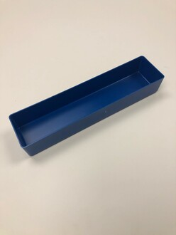 "3"" x 12"" x 2"" Blue Plastic Box"