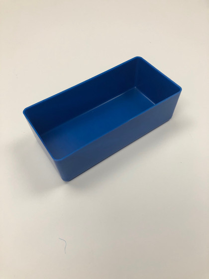 "3"" x 6"" x 2"" Blue Plastic Box"