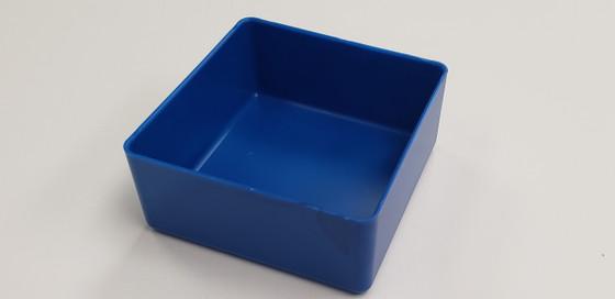 "4"" x 4"" x 2"" BLUE plastic tool box organizer box"