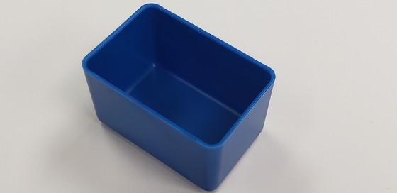 "2"" x 3"" x 2"" Blue plastic tool box organizer box"