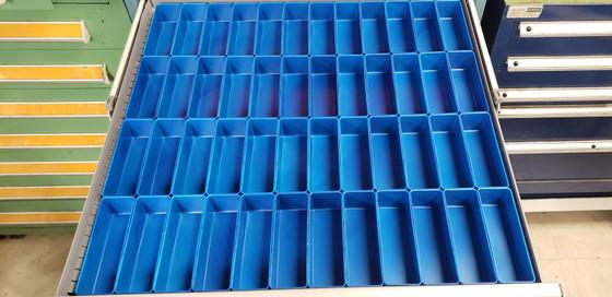 """2"""" x 6"""" x 2"""" blue plastic box tool box drawer dividers"""