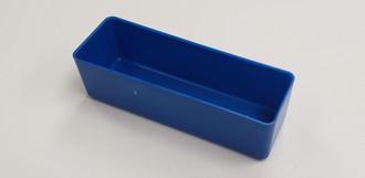 """2"""" x 6"""" x 2"""" Blue plastic tool box organizer bins"""