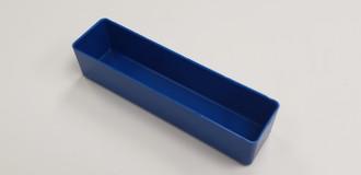 "2"" x 8"" x 2"" Blue plastic tool box organizer box"