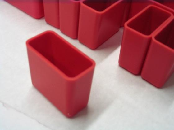 """1"""" x 2"""" x 2"""" Red Plastic Bin"""
