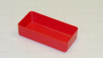 "2"" x 4"" x 1""  Red Plastic Box"