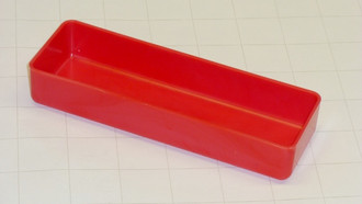 "2"" x 6"" x  1"" Red Plastic Box"