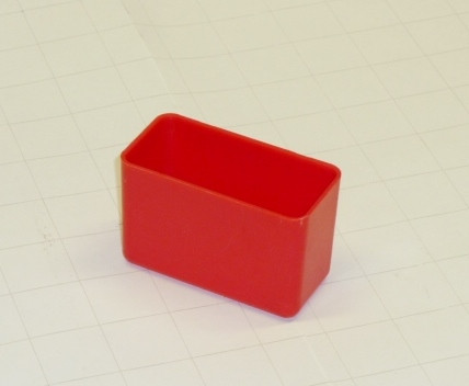 "3"" x 1.5"" x 2"" Red Plastic Box"