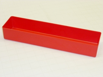 "3"" x 12"" x 2"" Red Plastic Box"