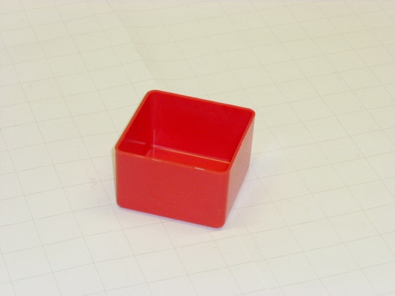 "3"" x 3"" x 2"" Red Plastic Box"