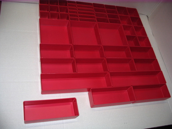 """Tool box dividers featuring  3' X 8"""" X 2"""" in the foreground"""