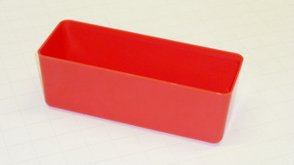 "3"" x 8"" x 3"" Red Plastic Box"