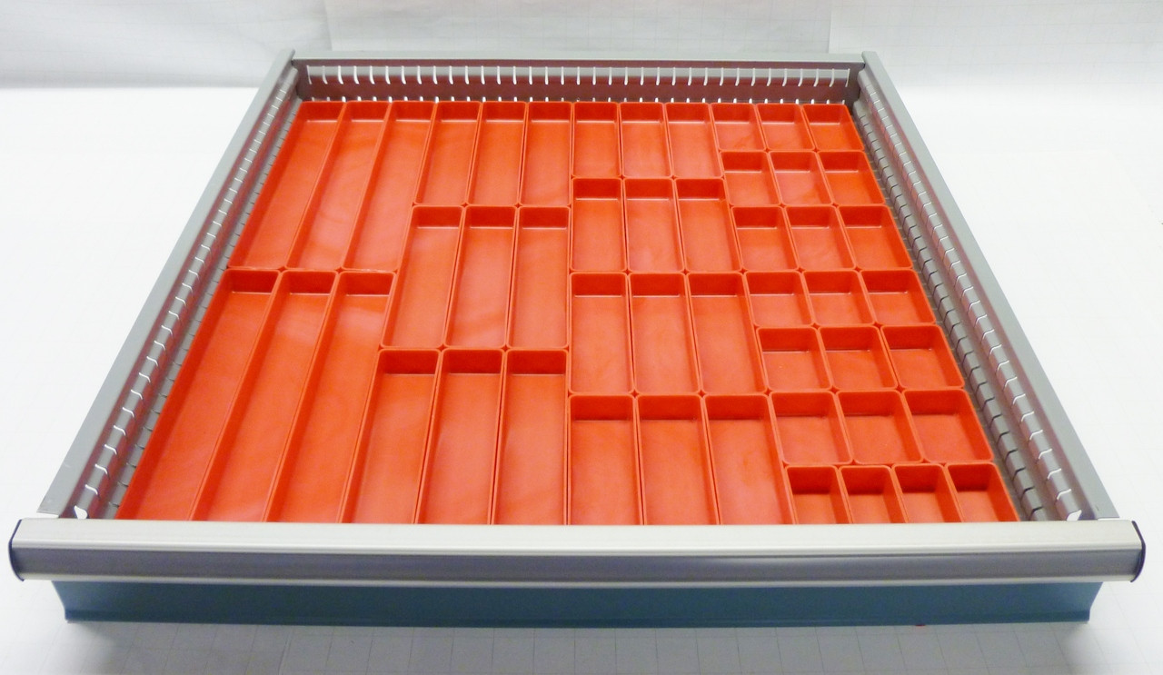49 Pc Red Plastic Box Assortment 1 Quot Deep Six 6 Sizes