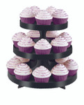 Black Cupcake Stand with Wraps