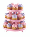 Cupcake Stand with Pink Borders
